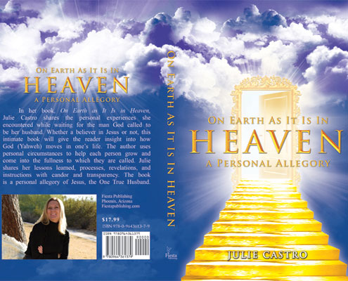 Fiesta Publishing On Earth As It Is In Heaven Front and Back Book Cover