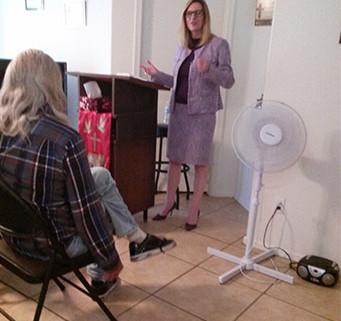 Julie ministering. Fiesta Publishing Blog